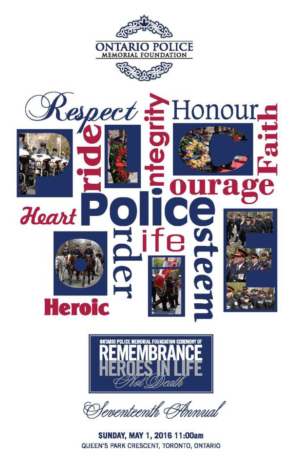 2016 memorial poster Ceremony of Remembrance 2016